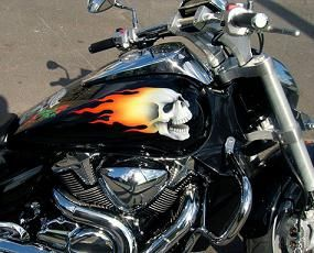 Aerografija motocikla