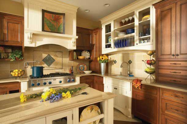 interijer kuhinje u bež boje