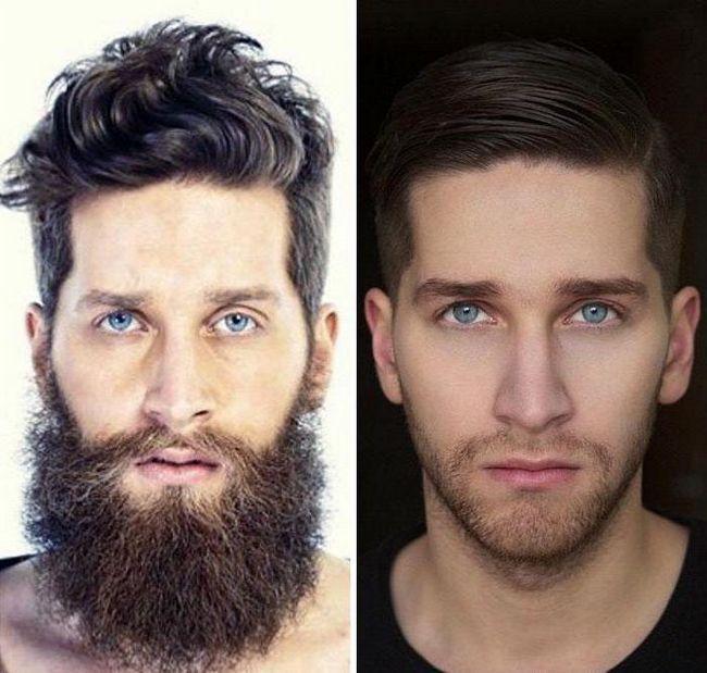 čovjek je brijanje