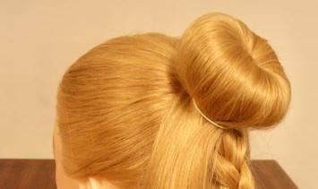 kako napraviti bagel za kosu
