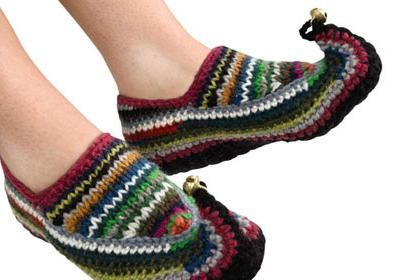 plesti papuče