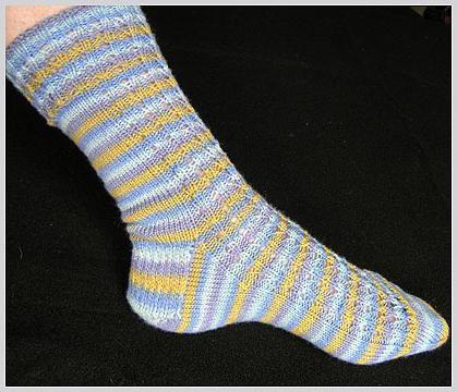dva pletena čarapa