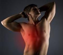 bol u prsima