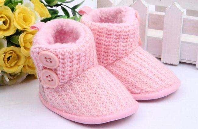 dječja pletena čarapa od vune
