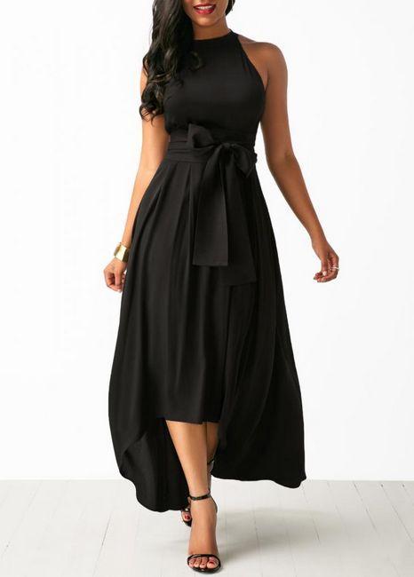 Crna večernja haljina