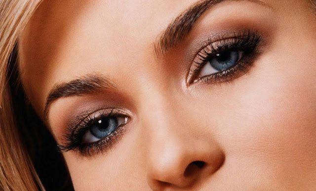 plave oči za šminku svijetlosmeđe kose