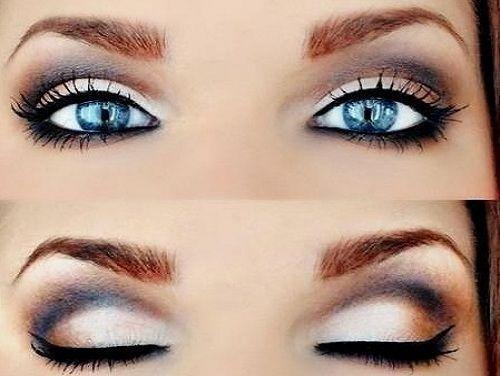 make-up za plave oči