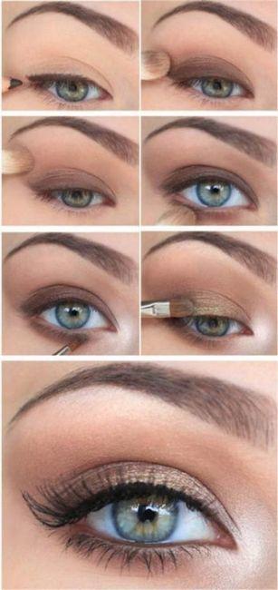 dnevni šminka za zelene oči