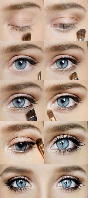 dnevni šminka za plave oči