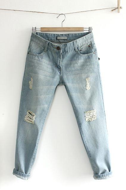 Укороченные джинсы фото