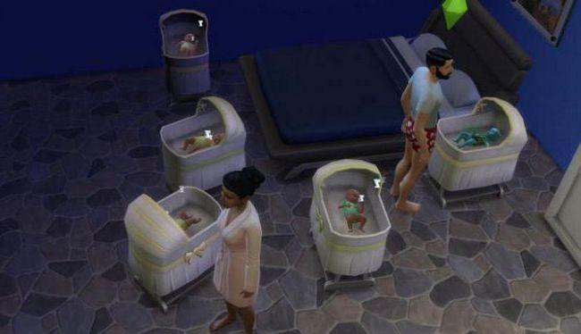 kao u sims 4 roditi blizanke