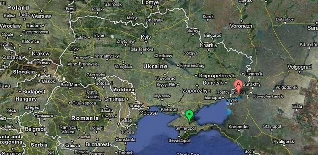 gdje je Taganrog na mapi Rusije