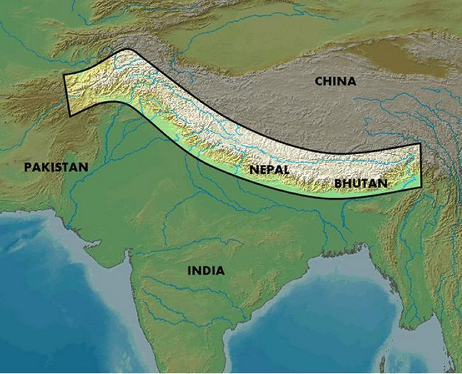 Gdje su Himalaji: zemljopisni položaj, opis, visina