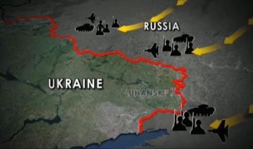 prelazeći granicu Ukrajine i Rusije