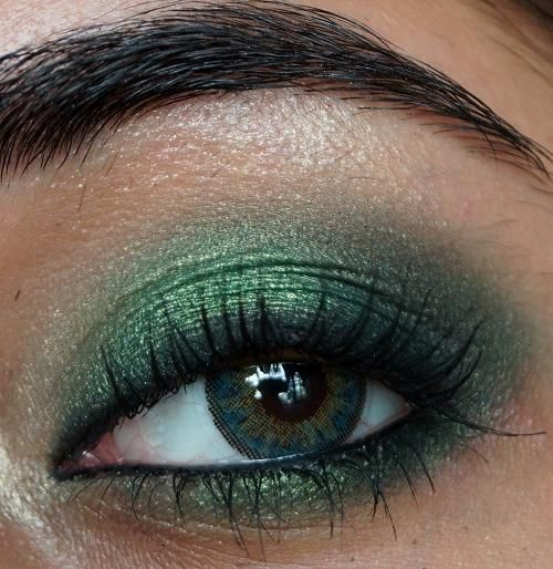 šminka za četvorke zelenih očiju