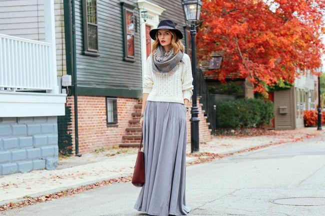 Maxi suknja za jesen