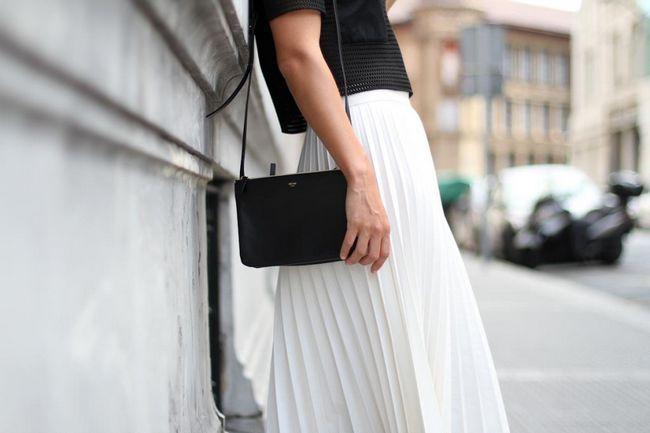 Duga suknja i uredska odjeća