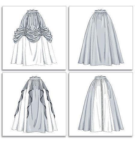Duga suknja u uzorku poda