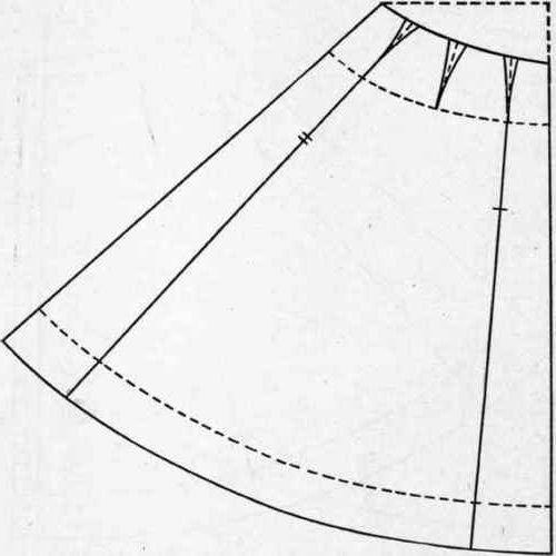 Oblik dugog suknje u podu