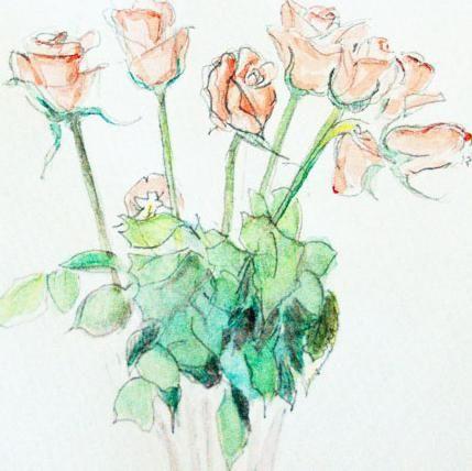 Kako crtati buket ruža