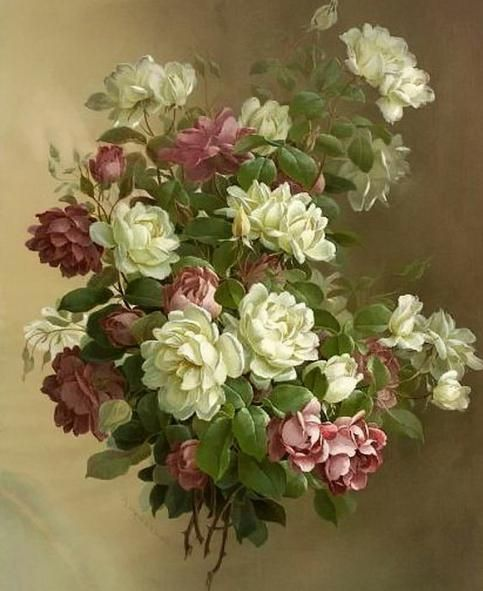 kako nacrtati lijep buket ruža
