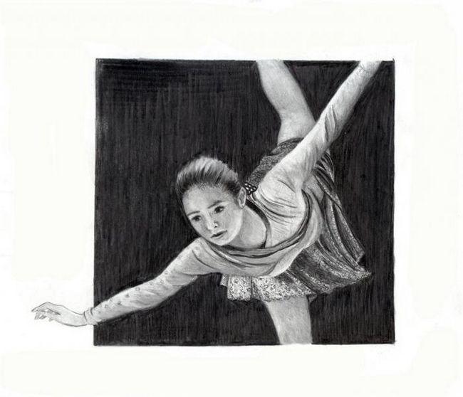 kako crtati klizačica u olovku