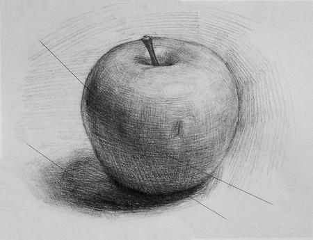 Kako nacrtati jabuku: naučiti vidjeti lijepu uobičajenu