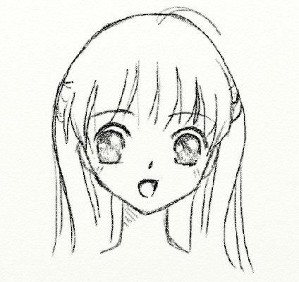 kako nacrtati anime djevojku lice