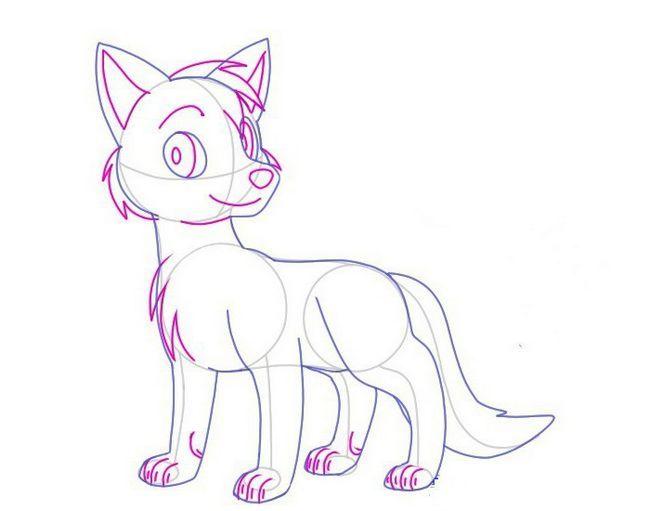 kako nacrtati lisicu u olovku korak po korak za djecu