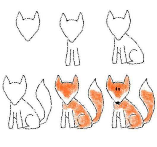 kako nacrtati lisicu u olovku korak po korak za početnike
