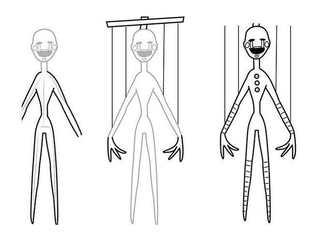 kako nacrtati lutku