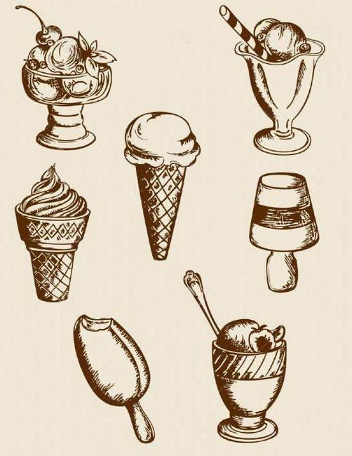 kako nacrtati sladoled