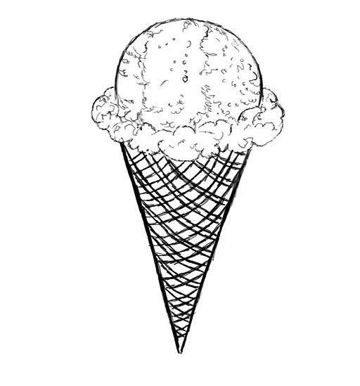 kako nacrtati sladoled u fazama