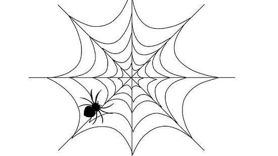 kako nacrtati paukove mreže