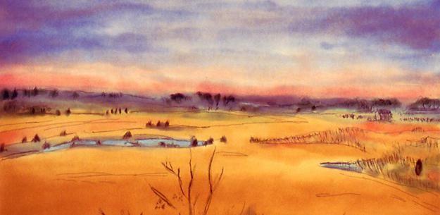 Как нарисовать пейзаж красками поэтапно: для начинающих и опытных художников