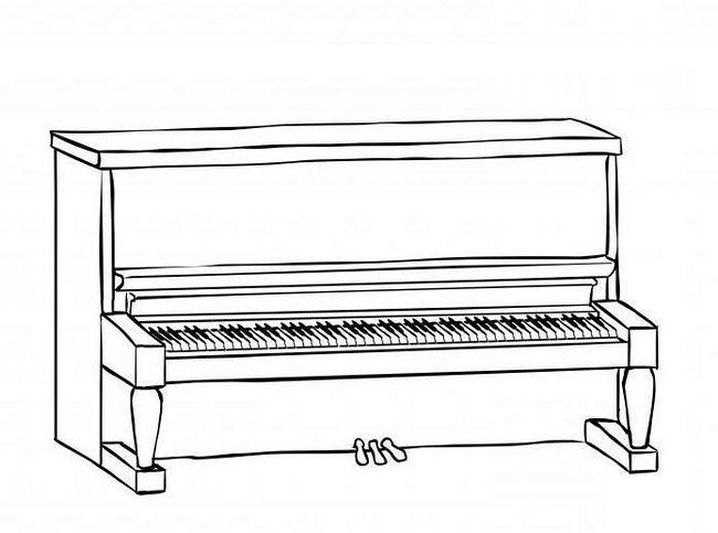 kako nacrtati glasovir u olovku korak po korak