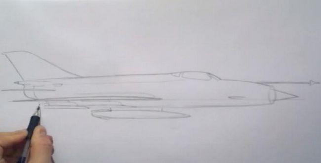 kako nacrtati vojni zrakoplov