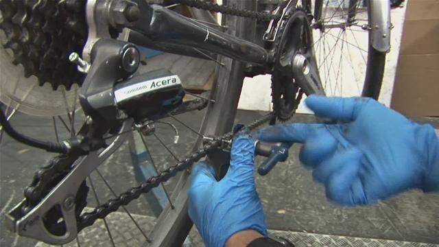 ugradnja lanca na bicikl