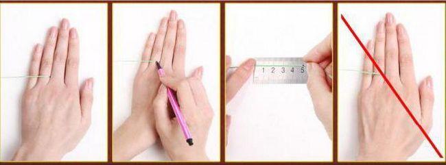 kako odrediti veličinu prstena za aliexpress