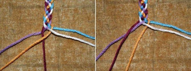Kako tkati pletenicu od 5 shema sheme