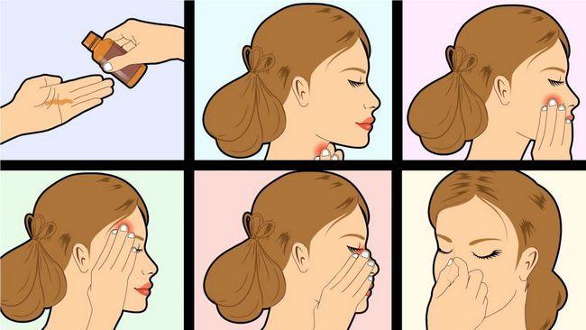 masaža za ovalno lice