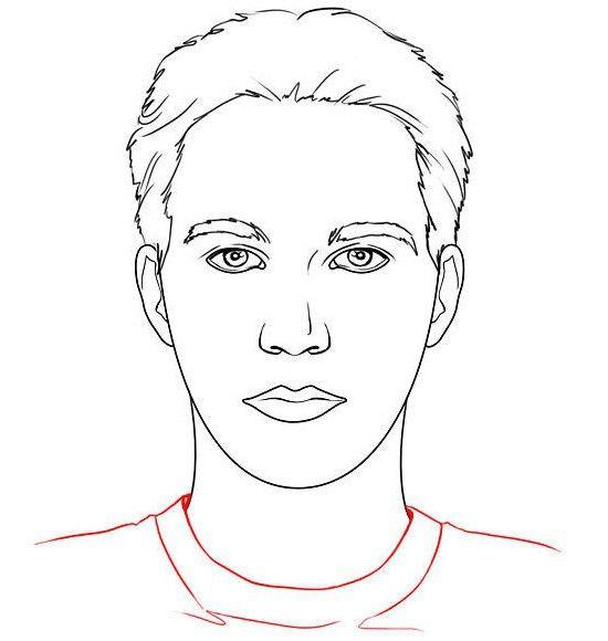 Kako nacrtati lice osobe u punom licu?