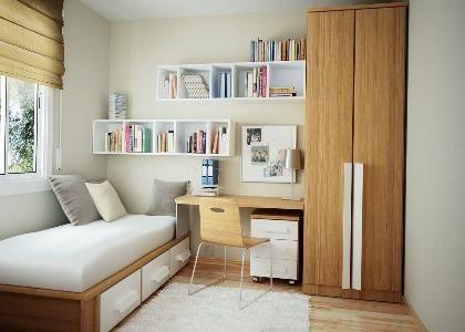 Dizajn male spavaće sobe