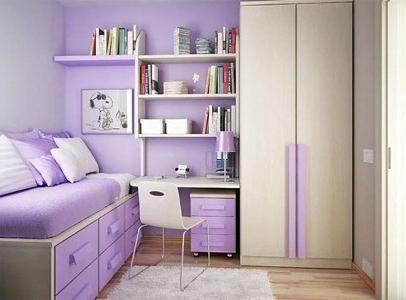 Mali dizajn male spavaće sobe