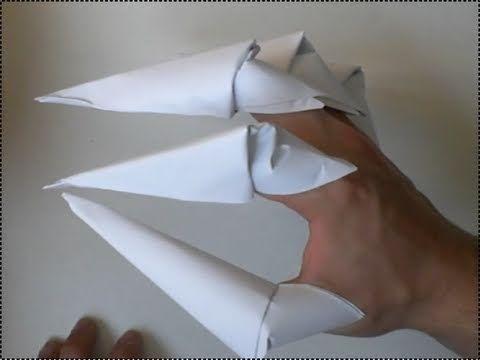 kako napraviti šiljaste pandže iz papira