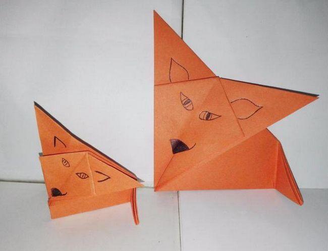 kako napraviti papir lisica