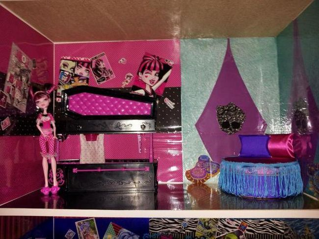 kako napraviti krevet za čudovišnu lutku baciti svoje ruke