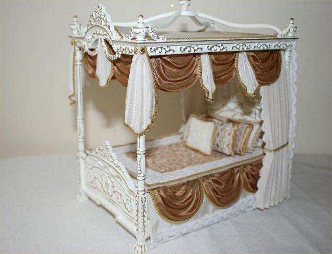 drveni krevet za lutku