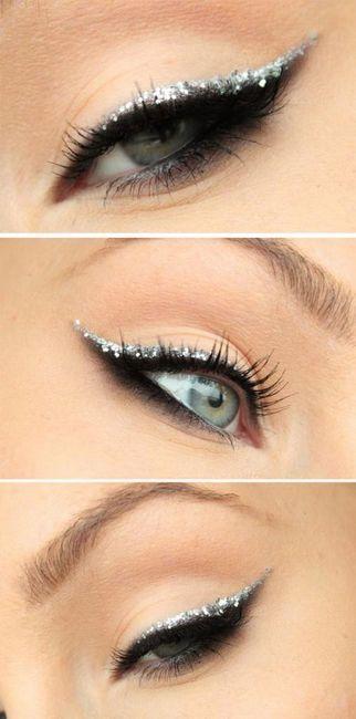 šminka mačjeg oka sa svjetlucavima