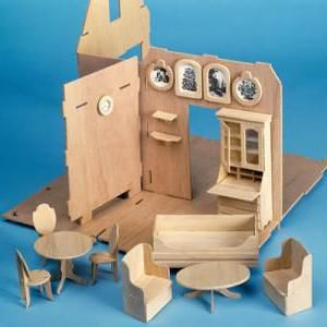 kako napraviti namještaj od kartona za lutke
